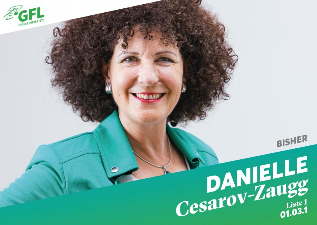 Danielle Cesarov's Wahlkarte