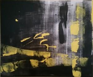 Abstraktion Gelb-Schwarz